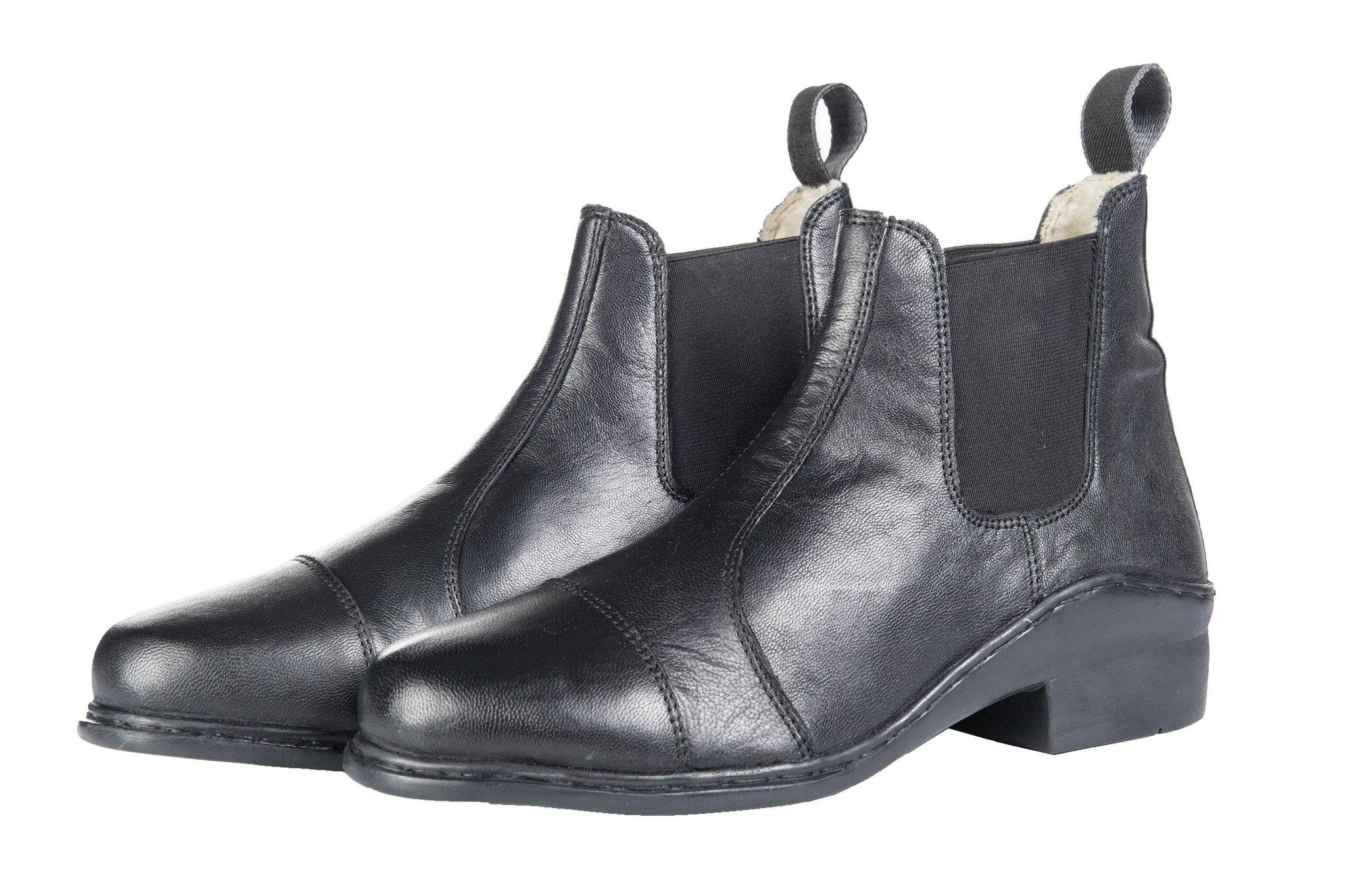 422c2b3aec3c Jazdecké Jodhpur topánky -Softy- s baránkovou podšívkou elastickou vsadkou  empty